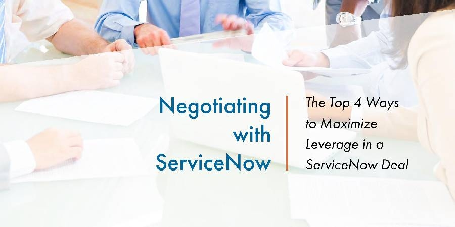White paper - 4 Ways to Gain Leverage in a ServiceNow Deal