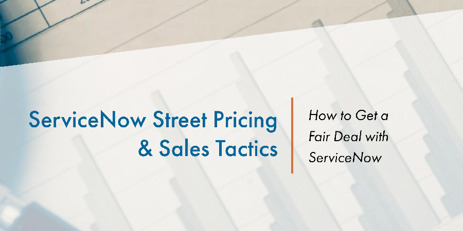 White paper - How to Get a Fair Deal with ServiceNow